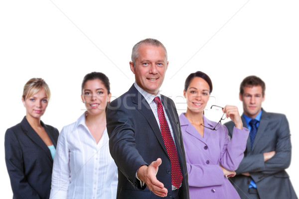 Business team handshake Stock photo © RTimages
