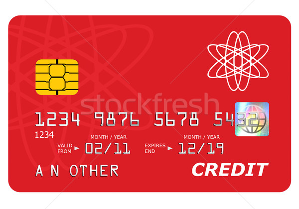 Bank credit card mock up isolated on white. Stock photo © RTimages
