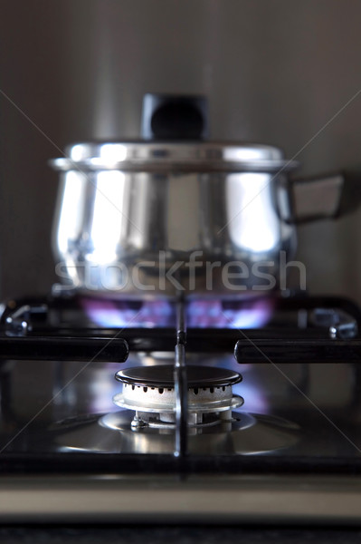 Gas hob and pan  Stock photo © RTimages