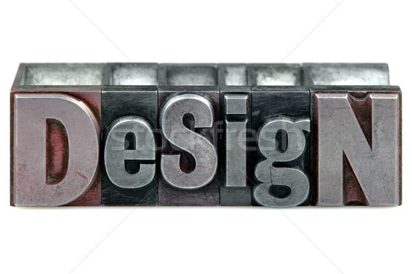 Design mot vieux impression blocs Photo stock © RTimages