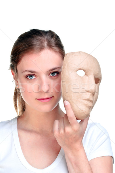Woman and mask. Stock photo © RTimages