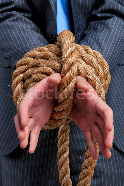 Stock photo: Businessman hands tied