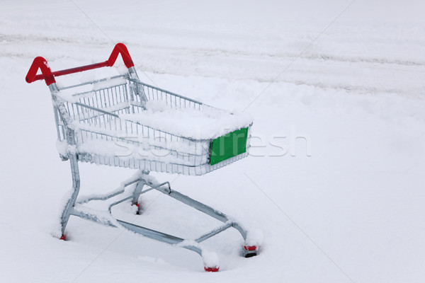 Shopping trolley in the snow Stock photo © RTimages