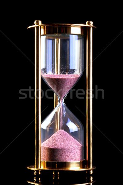 песочных часов песок таймер черный латунь изолированный Сток-фото © RTimages