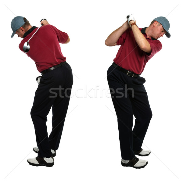Golfer side views Stock photo © RTimages