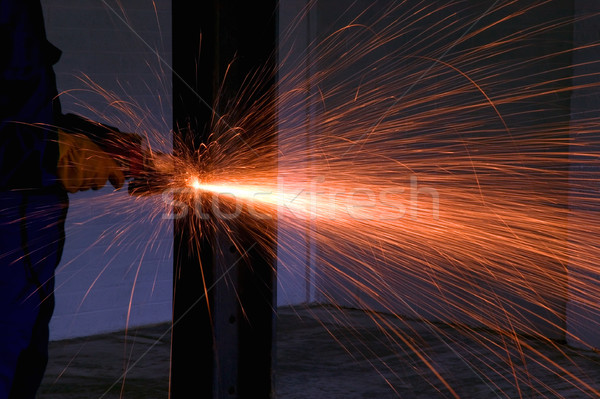 Angle grinder sparks Stock photo © RTimages