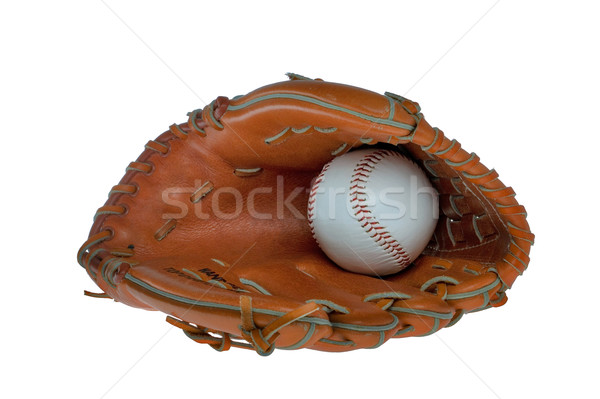 Baseball glove and ball isolated Stock photo © RTimages