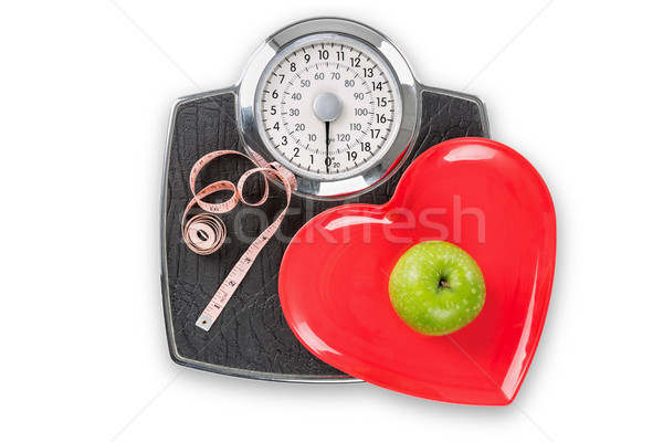 Healthy living scales Stock photo © RTimages