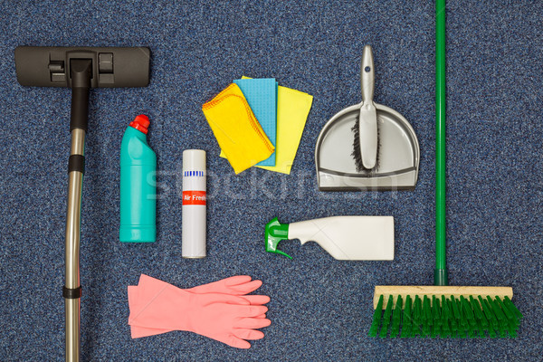 Cleaning equipment flat lay Stock photo © RTimages