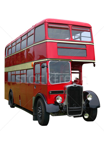 Red Vintage Double decker Stock photo © RTimages