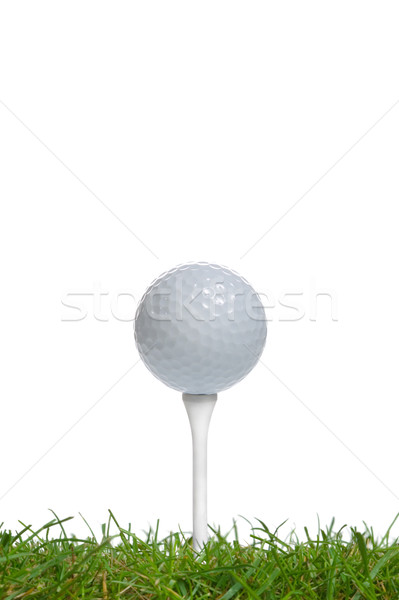 Balle de golf surface niveau élevé clé Photo stock © RTimages