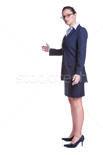 Buisnesswoman welcoming gesture Stock photo © RTimages