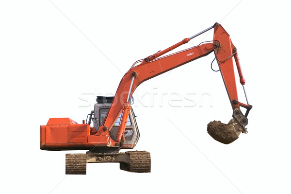 Digger Isolated Stock photo © RTimages
