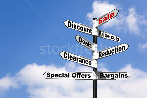 Sale and Discount signpost Stock photo © RTimages