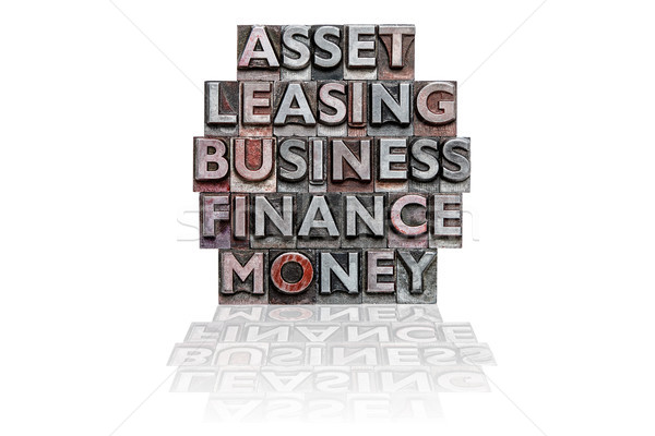 Financial letterpress word stack Stock photo © RTimages