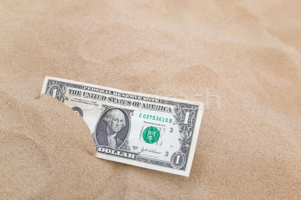 Dollar in the sand horizontal. Stock photo © RTimages