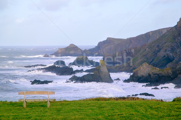Clifftop bench Stock photo © RTimages
