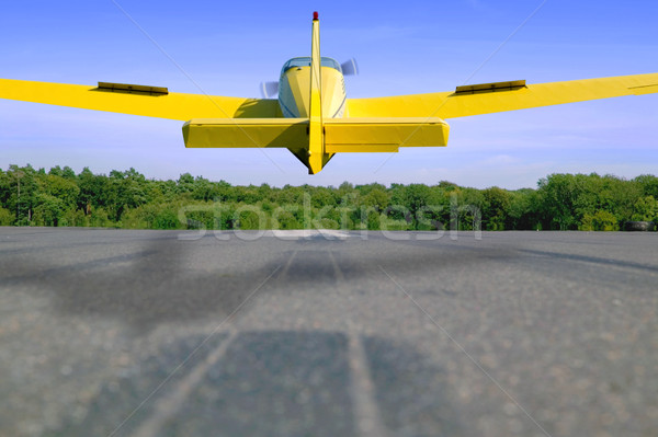 Aircraft landing Stock photo © RTimages