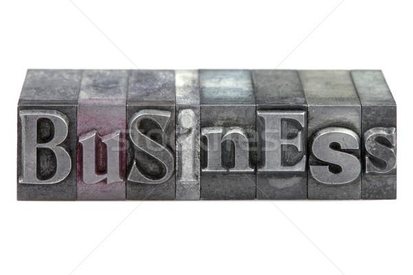 ビジネス 言葉 古い 印刷 ブロック ストックフォト © RTimages