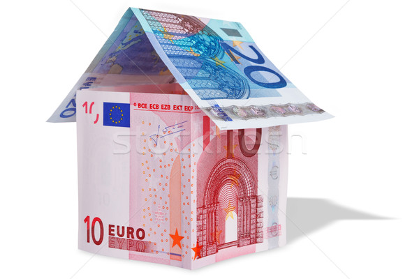House made with Euro banknotes Stock photo © RTimages