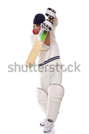 Cricketer playing a shot Stock photo © RTimages