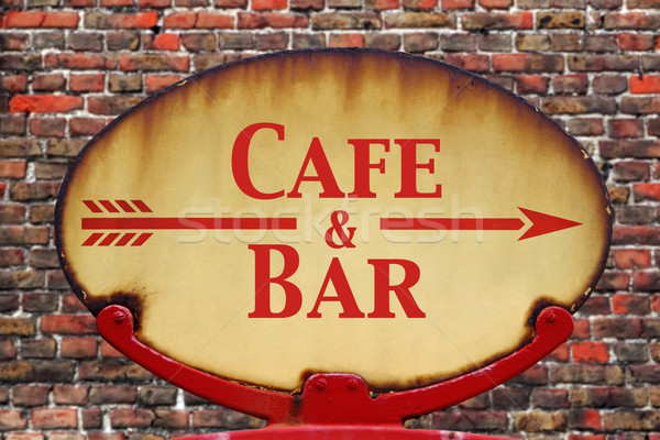 Retro sign Cafe and Bar Stock photo © RTimages