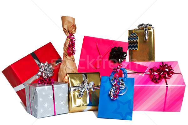 Group of gift presents cut out Stock photo © RTimages