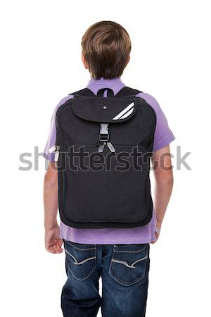 Schoolboy with bag isolated Stock photo © RTimages