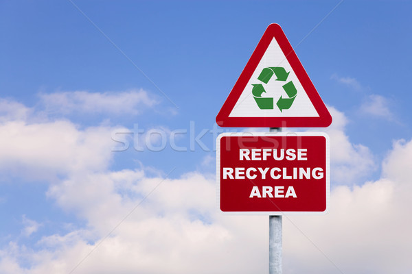 Refuse recycling area sign Stock photo © RTimages