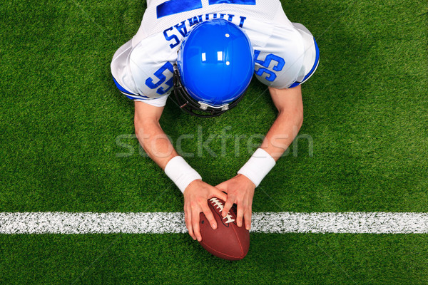Overhead American football player touchdown Stock photo © RTimages