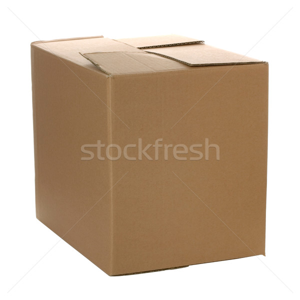 Cerrado caja de cartón propio diseno logo aislado Foto stock © RTimages