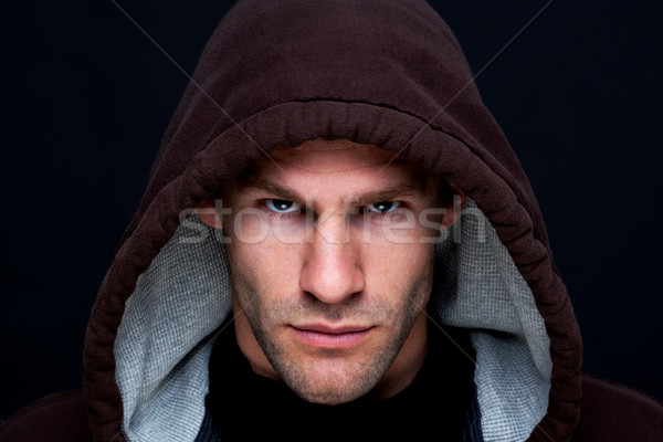 Homme brun haut intense Photo stock © RTimages