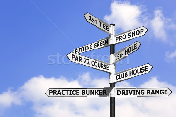 Golf course signpost Stock photo © RTimages