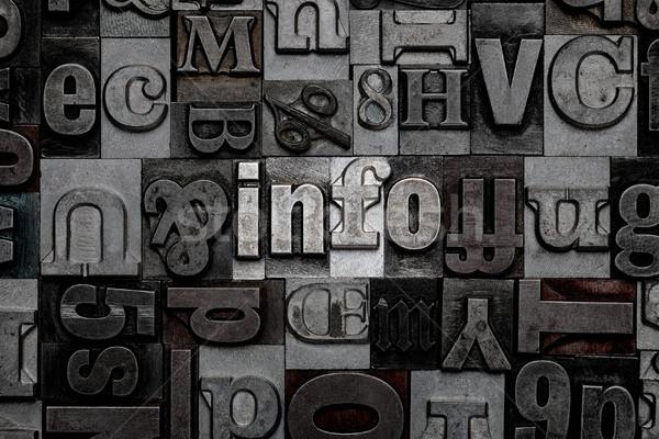 Info mot vieux métal lettres Photo stock © RTimages