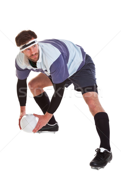 Rugby jogador branco foto bola Foto stock © RTimages