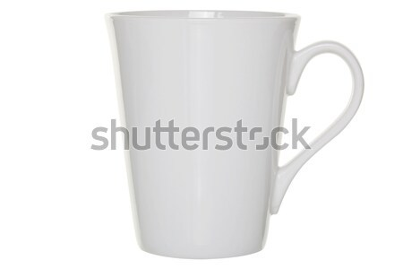 Tazza di caffè bianco isolato Foto d'archivio © RTimages