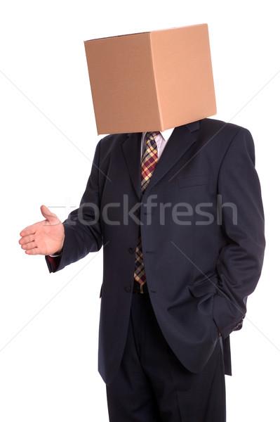 Box man handshake Stock photo © RTimages