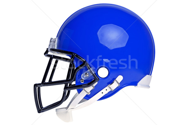 Blue American football helmet cut out Stock photo © RTimages