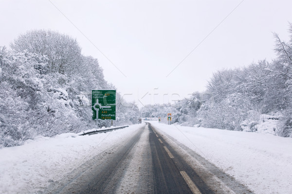 A31 covered in snow Stock photo © RTimages