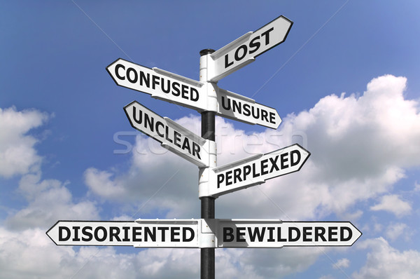 Lost and Confused Signpost Stock photo © RTimages