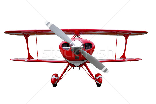 Red biplane cut out Stock photo © RTimages