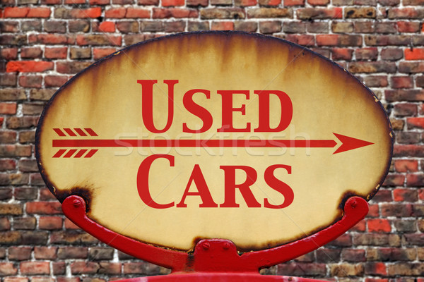 Retro sign Used cars Stock photo © RTimages