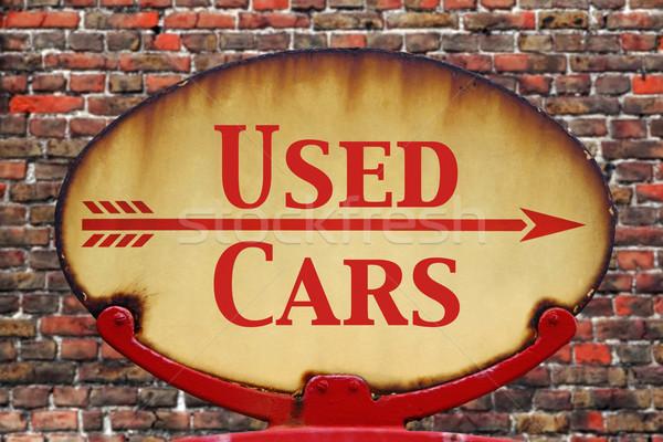 Retro imzalamak kullanılmış araba paslı eski Stok fotoğraf © RTimages