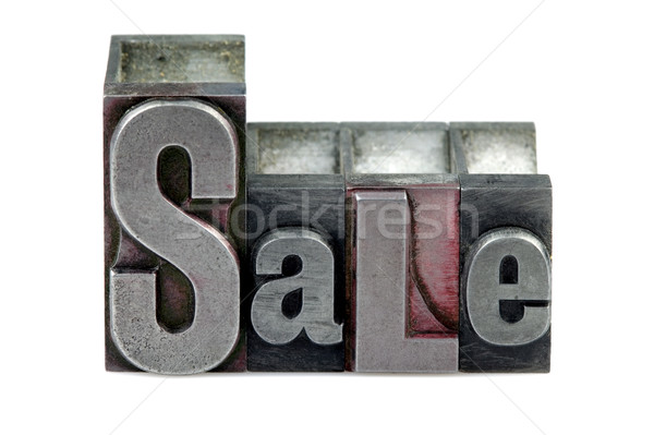 販売 言葉 古い 印刷 ブロック ストックフォト © RTimages