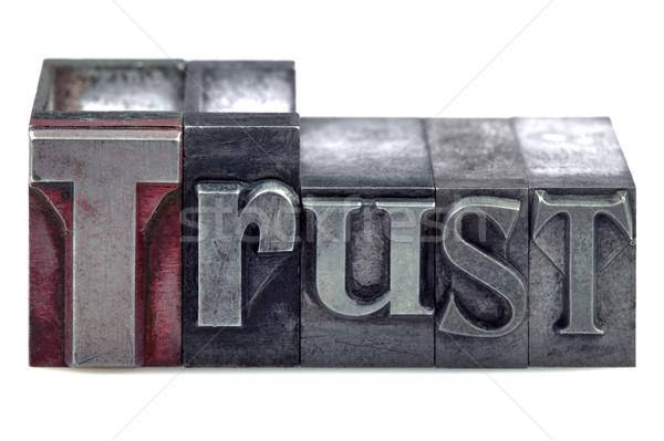 Stok fotoğraf: Güven · kelime · eski · baskı · bloklar