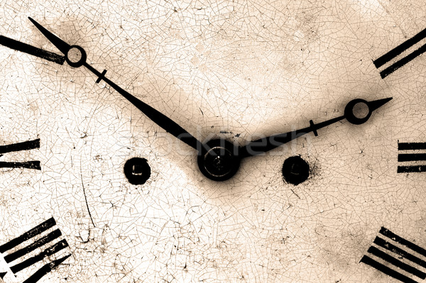 Antique clock face close up Stock photo © RTimages