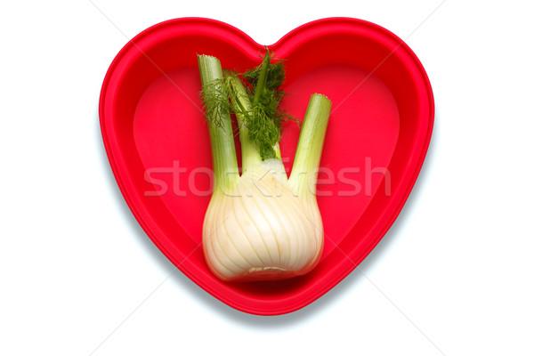 Amor funcho foto coração prato Foto stock © RTimages