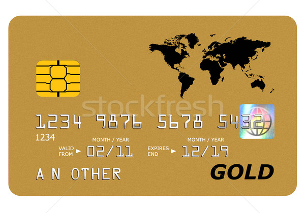 Bank gold card mock up isolated on white. Stock photo © RTimages