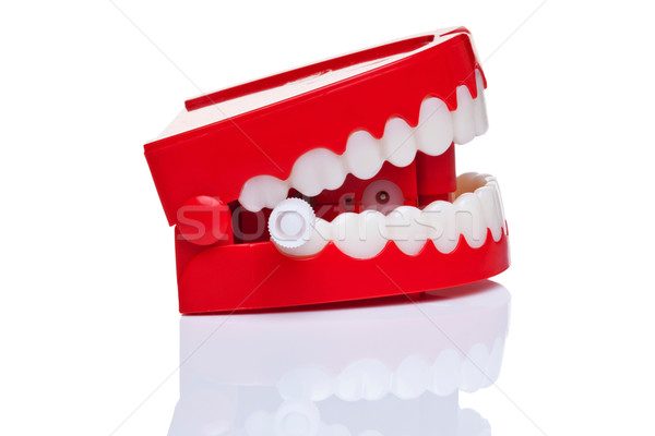 Dents paire blague vent up pur Photo stock © RTimages