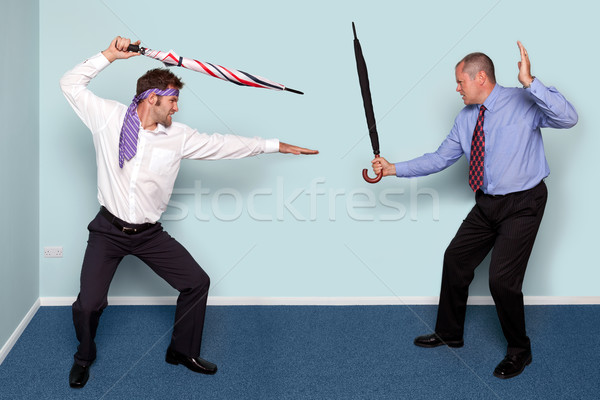 Two businessmen fighting Stock photo © RTimages